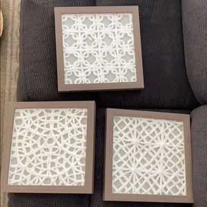 Threshold Accents - Set of 3 wall hangings